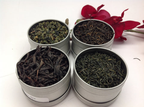 China Tea Sampler( with clear tin)