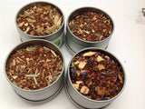 Rooibos-Chai Tea Sampler( with clear Tin top 4 count)  Big Sale