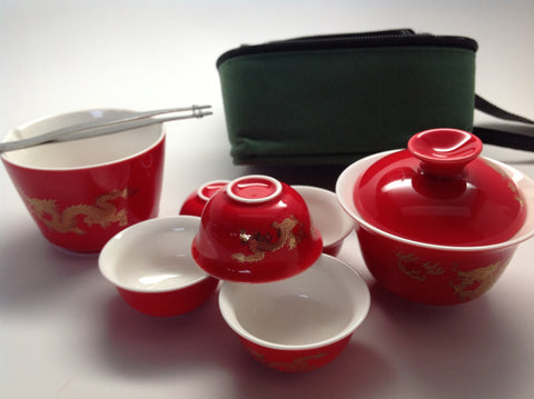 Travel Tea Set(Dragon) #666