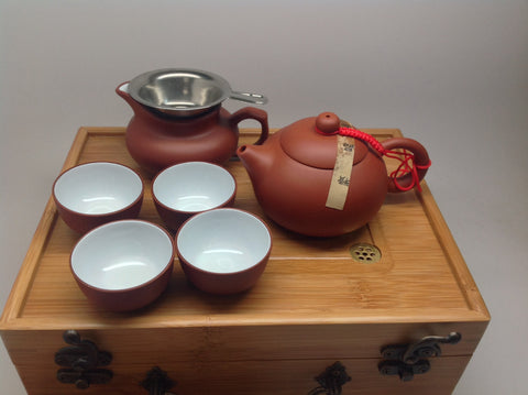 Travel tea set ( fancy tea set with bamboo tea tray) #89