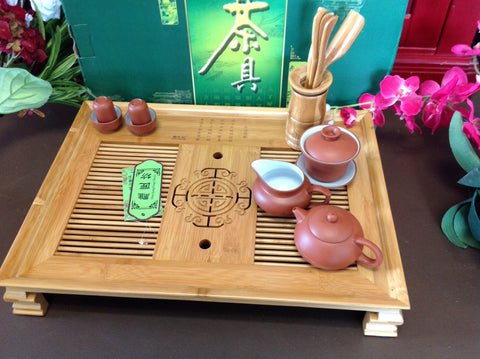 Tray-Lucky Bamboo Large size extra fany tea tray