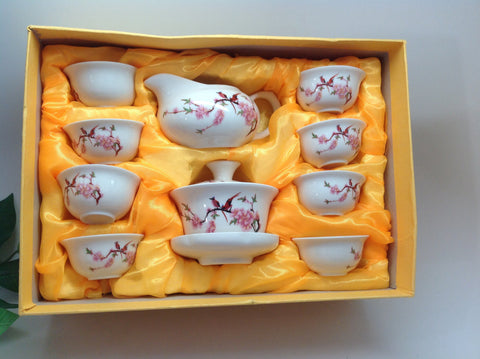Bird and Flower Tea Set
