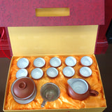 Red and White Tea Set with gift box #612