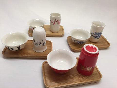 Cups-Gong fu tea tasting cups 4 set of total 8 cups