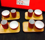 Tea tasting cup and Aroma Cups Red N White