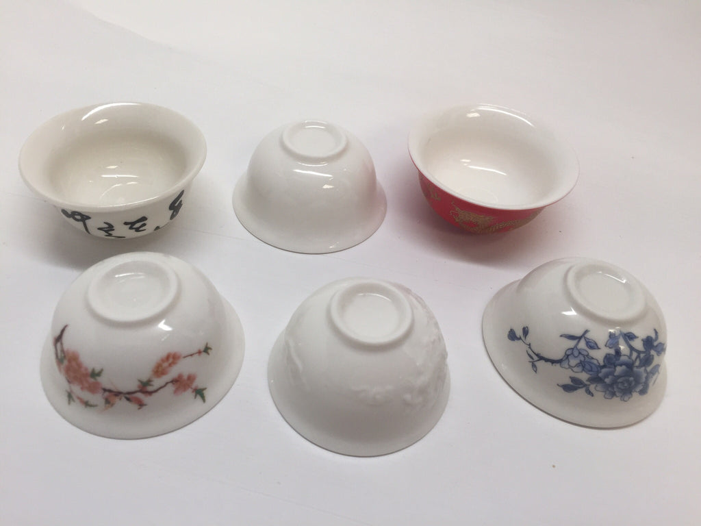 Chinese Gong fu tea cups Mini cups mix of 6