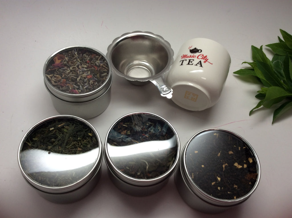 Tea sampler with A cup and strainer