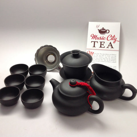 Yixing Tea Set Black Set