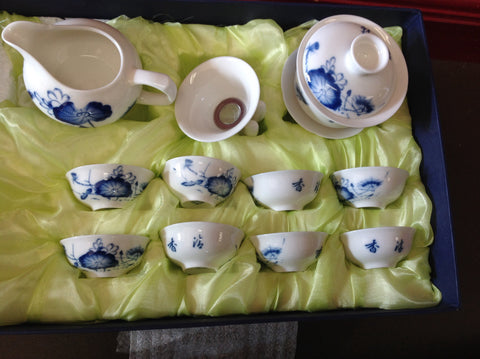 Lotus Pattern Tea Set #638