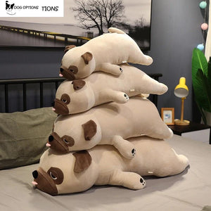 Lazy Pug Dog Plush Pillow-Dog Options