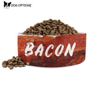 Bacon Designer Dog Bowl