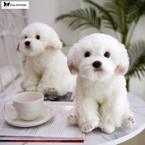 Maltese Plush Dog Doll-Dog Options