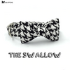 The Swallow Dog Collar and Leash Set With Bow tie-Dog Options