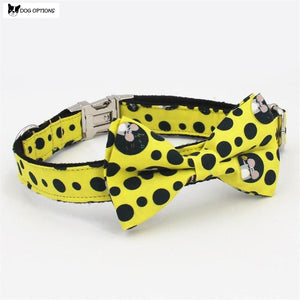 The Cheese - Personalized Designer Dog Collar With Bowtie-Dog Options