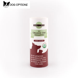 Organic Dry Pet Shampoo, Herb Medley-Dog Options