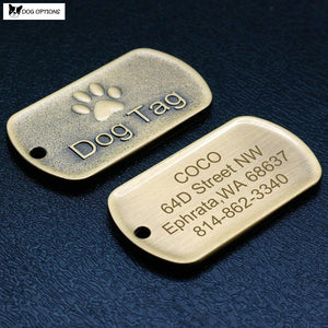 Customized Military Dog Tag