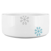 The Snowflake - Personalized Dog Name Ceramic Bowl-Dog Options