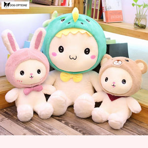 Cute Rabbit and Gank Plush Pillow-Dog Options