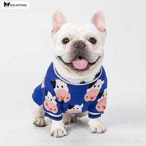Milky Cow Dog Sweater-Dog Options