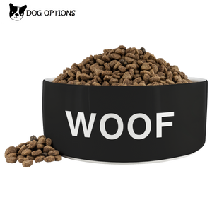 Woof Dog Bowl - Black