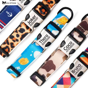 Fashion Personalized Engraving Name Dog Collar-Dog Options