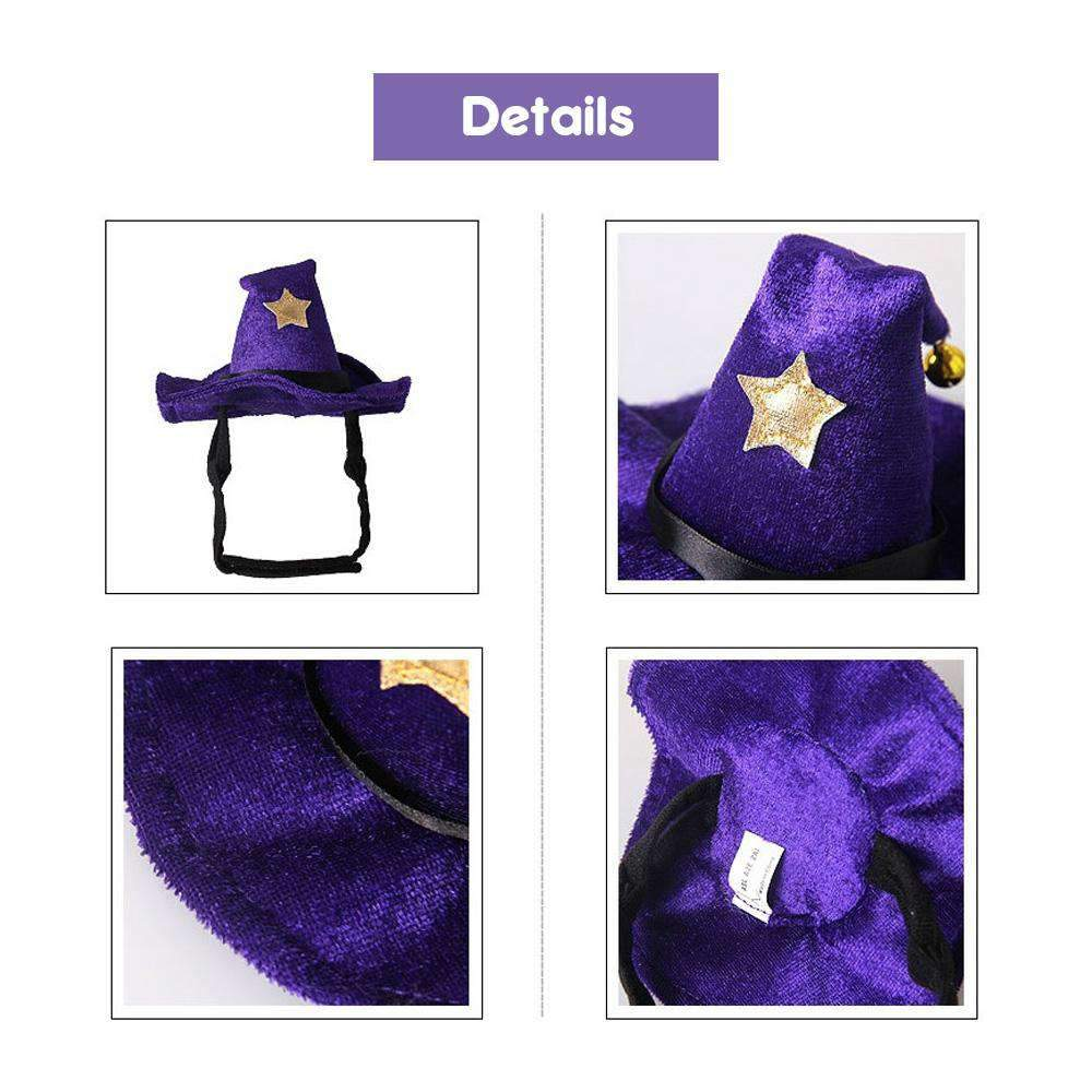 Halloween Witch Hat For Cats/Small Dogs-Dog Options