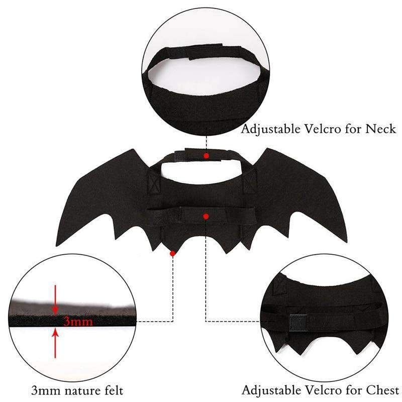 Cartoon Pet Bat Wings-Dog Options