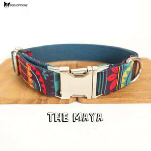 LUXURY DESIGNER MAYA PERSONALIZED DOG COLLARS AND LEASH-Dog Options