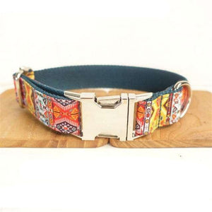 LUXURY DESIGNER BOHEMIA PERSONALIZED DOG COLLARS AND LEASH-Dog Options