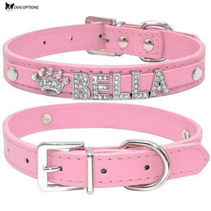 Bling Rhinestone Personalized Dog Collars