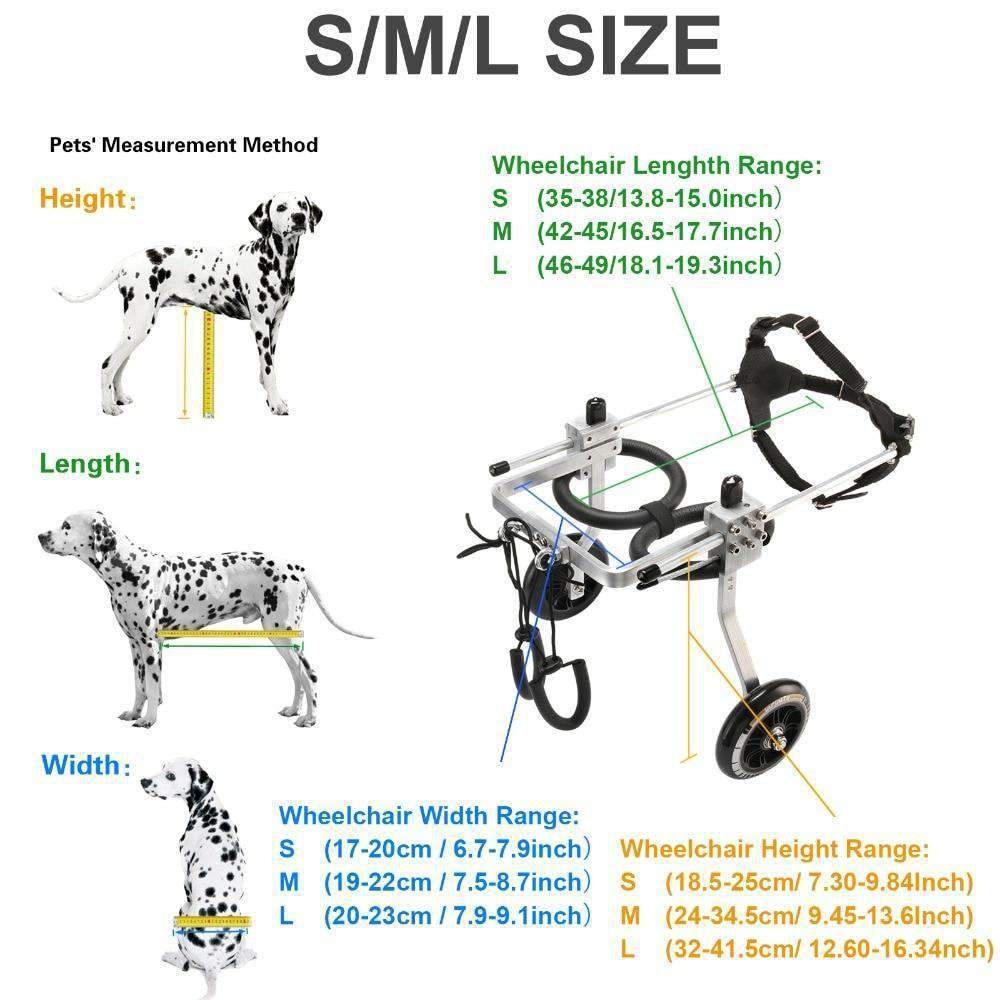 Dog Options: Dog Wheelchair For Back Legs (Aluminum Stainless Steel)-Dog Options
