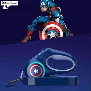 Marvel: LED Dog Leash Retractable-Dog Options