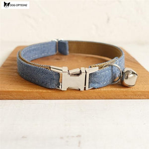 The Brown Denim - Personalized Handmade Cat Collar