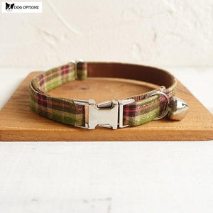 The Brown Scott - Personalized Handmade Cat Collar