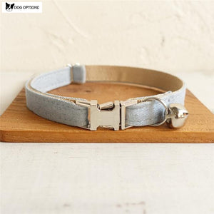 The Light Denim - Personalized Handmade Cat Collar