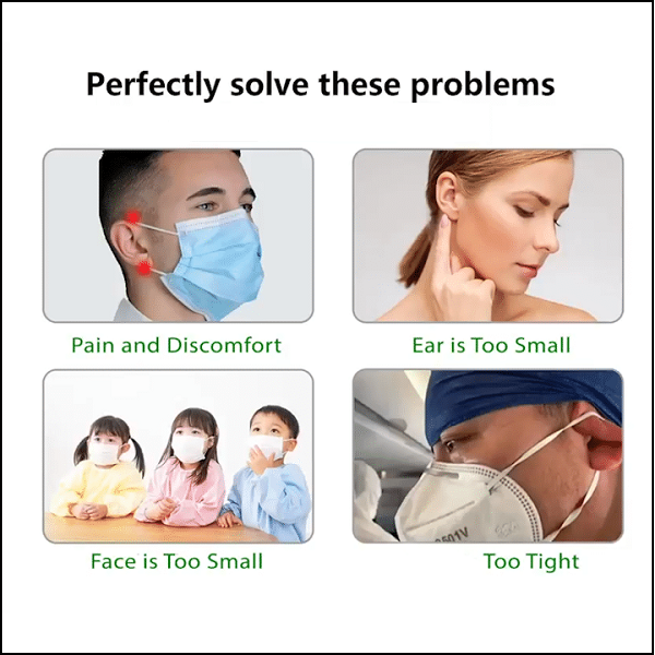 Adjustable elasticity strap - protect your nose and ear