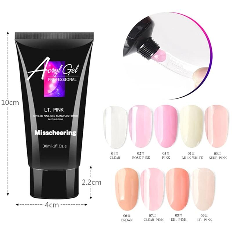 Crystal Poly Gel Nail Extension Kit