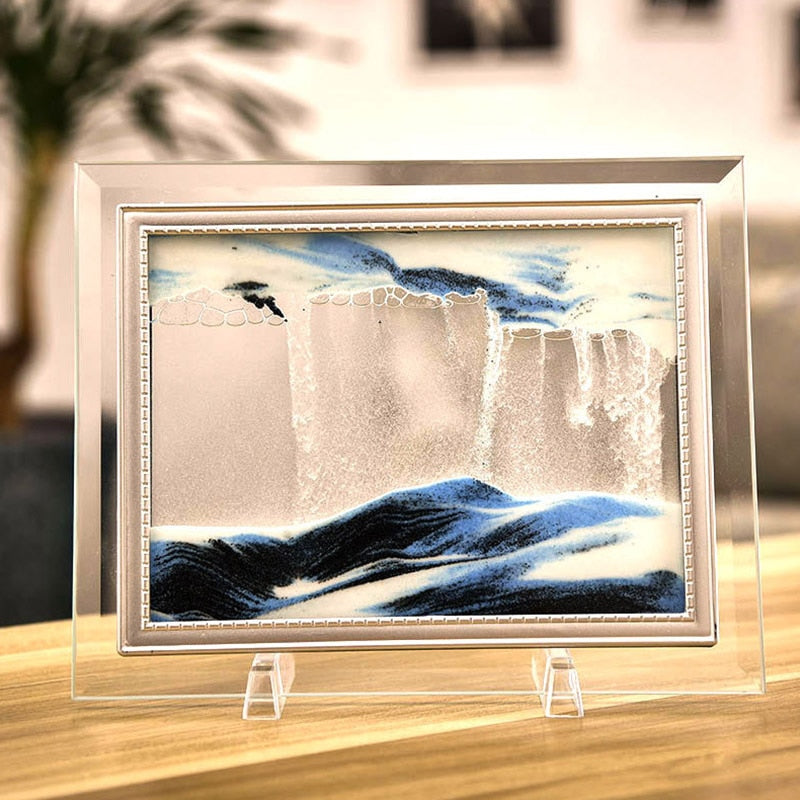 Glass Dynamic Quicksand Frame Hourglass