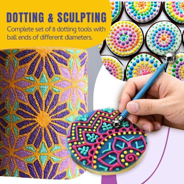 Mandala Cake Dotting Pen Tool Set (9pcs/Set)