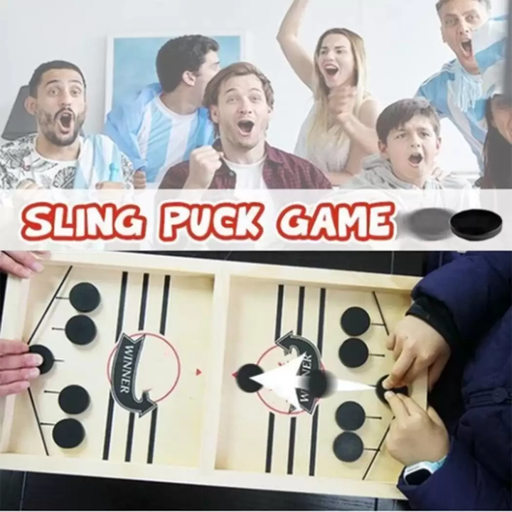 Funny Family Wooden Hockey Game