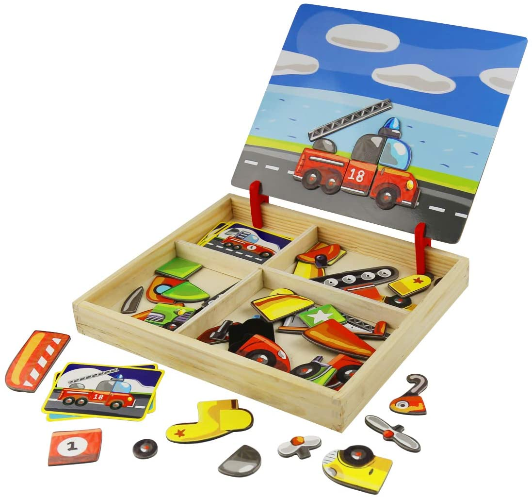 3D Wooden Magnetic Pretend Play Puzzle Toys