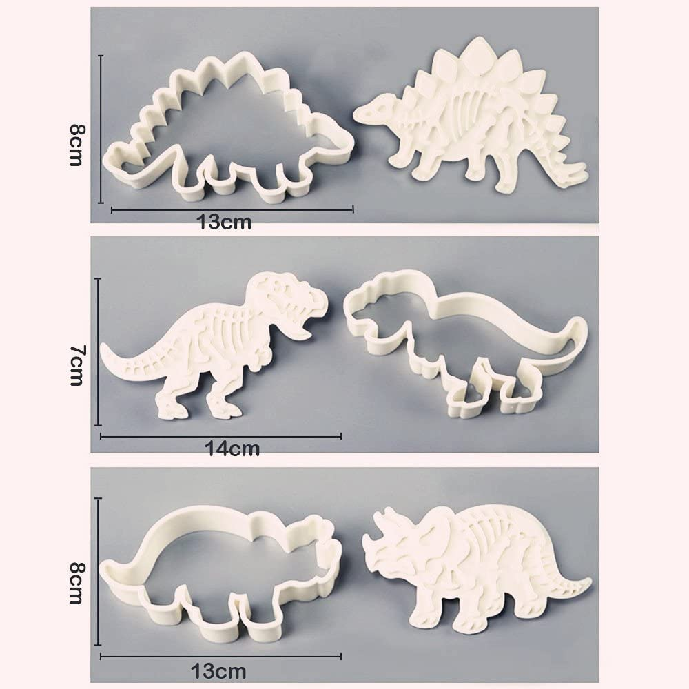 Dinosaur Cookie Molds (Set of 3)
