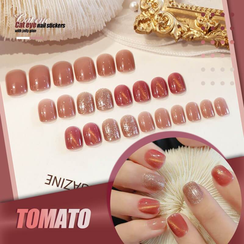 Mysterious Cat Eye Nail Patch with Jelly Gum (24 pcs)
