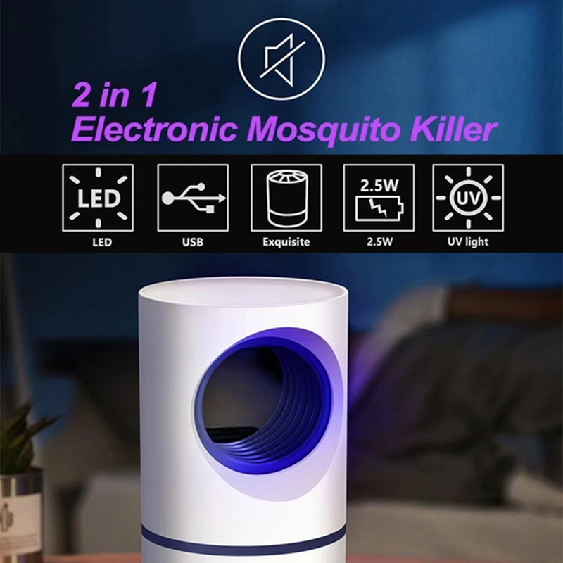 Mosquito And Flies Trap-Suction Fan, No Zapper, Child Safe