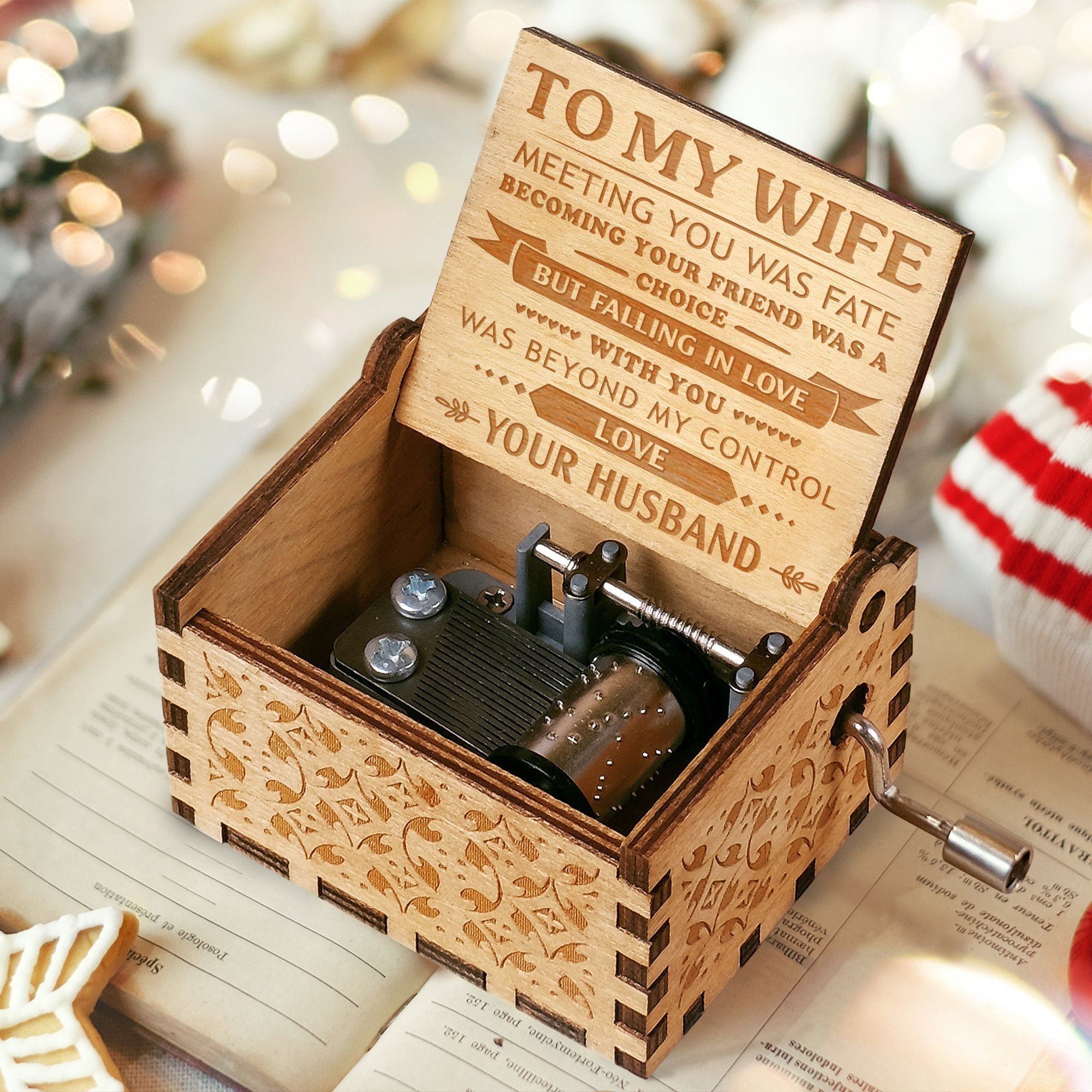 To My Wife - Falling in Love with Your - Engraved Music Box