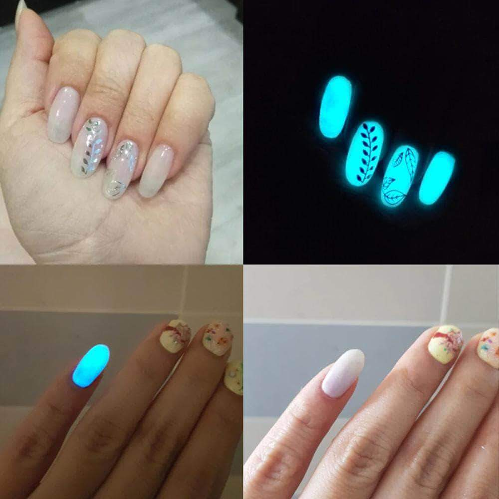 Glow in the Dark Nail Powder - All-Colors Pack