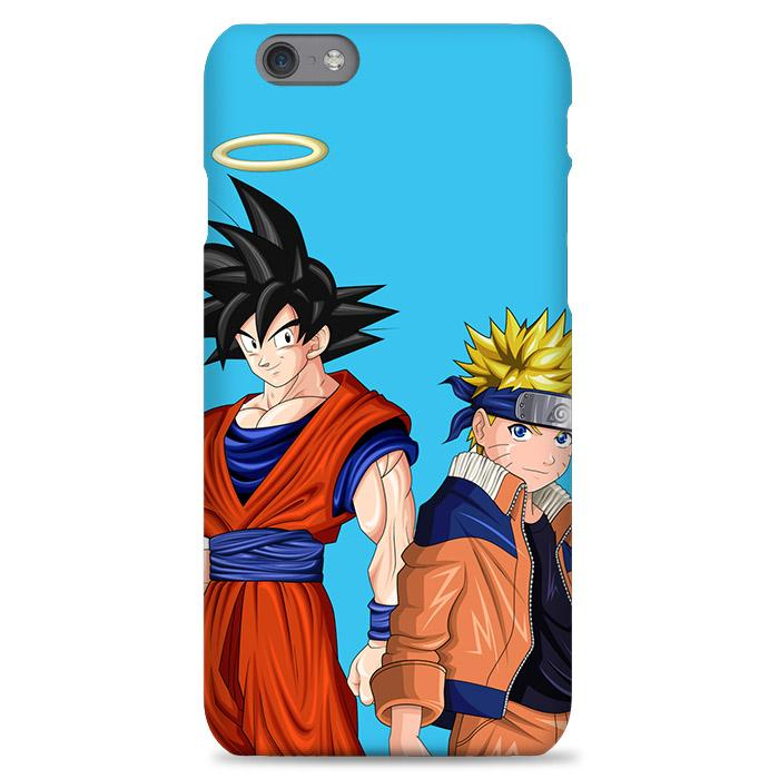 Goku And Naruto Blue Background