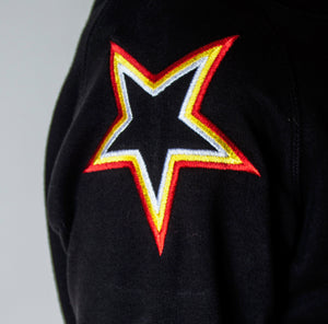 Black Shoulder Star Sweatshirt