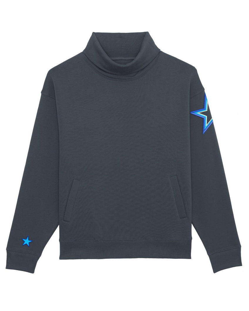 NEW High Neck Star Sweatshirt