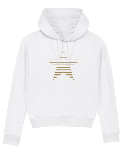 NEW White Striped Star Hoodie